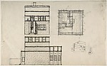 Elevation and Plan for a House
