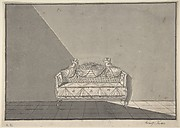 Design for a sofa with putti