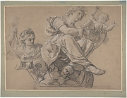 Allegorical Figures for a Ceiling Decoration