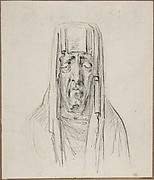 Male Head in a Hood