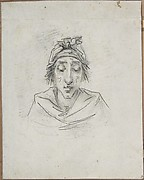Caricature of Georges-Auguste Couthon (called Aristide, 1756-1794), President of the Convention in 1793, on the way to the guillotine on July 28, 1794 (10 Thermidor, An II)
