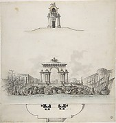 Design for Colossal Triumphal Arch Surmounted by a Quadriga