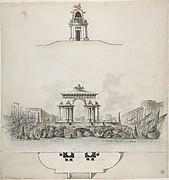 Design for Colossal Triumphal Arch Surmounted by a Quadriga