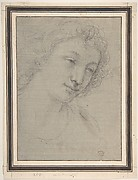 Figure of Young Man or Woman in Bust-length, in Three-Quarter View