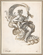 Galatea Triumphant (recto); Another Study for the Same Figure (verso)