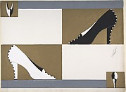 Black and White Pump with Zigzag Profile for Delman's Shoes, New York