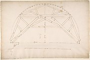 St. Peter's, centering truss, tunnel vault, section (recto)  blank (verso)