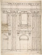 St. Peter's, apse, partial elevation (recto) blank (verso)