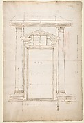 San Lorenzo, Library, Ricetto, entry portal to library, elevation (recto) San Lorenzo, Library, Ricetto, entry portal to library, plan and wall detail (verso)