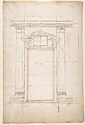 San Lorenzo, Library, Ricetto, entry portal to library, elevation (recto) San Lorenzo, Library, Ricetto, entry portal to library, plan and wall detail (verso)
