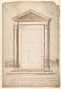 Sant'Apollonia, portal, elevation (recto) Sant'Apollonia, portal, plan (verso)