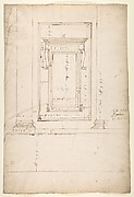 San Lorenzo, Library, window, elevation (recto) San Lorenzo, Library, window, cornice, section; cornice, section (verso)