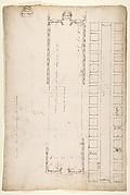 San Lorenzo, Library, plan; reflected ceiling plan; stair, detail (recto) San Lorenzo, Ricetto, plan (verso)