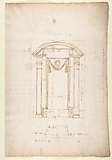 San Lorenzo, New Sacristy, niche frame, tabernacle, plan and elevation (recto) San Lorenzo, New Sacristy, entablature, cornice, and base of niche, profiles (verso)