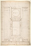 San Lorenzo, Library, Ricetto, window, elevation (recto) San Lorenzo, Library, Ricetto, column, elevation; details, elevation (verso)