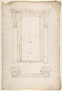 San Lorenzo, New Sacristy, portal, plan; elevation (recto) San Lorenzo, New Sacristy, portal, details (verso)