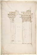 San Lorenzo, Library, portal, section (recto) San Lorenzo, Library, Ricetto, portal, elevation (verso)