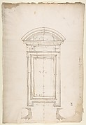 San Lorenzo, New Sacristy, window, plan; elevation (recto) San Lorenzo, New Sacristy, window, plan; elevation (verso)