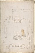San Lorenzo, New Sacristy, plan (recto) San Lorenzo, New Sacristy, details, elevation and section (verso)