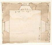 Unidentified, plan (recto) blank (verso)