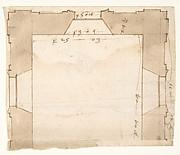 Unidentified, plan (recto) blank (verso)