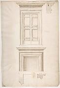 Unidentified, portal, elevation; portal, cornice, profile; fireplace, elevation (recto) blank (verso)
