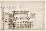 Palazzo Pirro in Rome, section (recto) Palazzo Pirro in Rome, sections; profiles (verso)