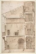 Palazzo Salviati in Rome, section (recto) Palazzo Salviati in Rome, details (verso)