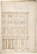 Palazzo Massimo alle Colonne, elevation (recto) Palazzo Massimo alle Colonne, portal, elevation; portal entablature, profile (verso)