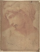 Drawing of the Head of Michelangelo's Dawn (from the Tomb of Lorenzo de' Medici, Church of S. Lorenzo, Florence).