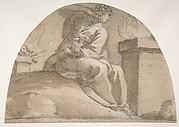 Seated Allegorical Female Figure