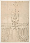Design for Choir Stalls Showing the Entrance to the Choir through the Rood Screen