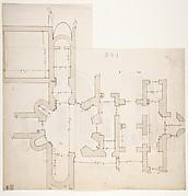 S. Giovanni Laterano, Centocelle, plan (recto) S. Giovanni Laterano, Centocelle, section (verso)