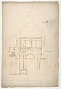 S. Pietro in Montorio, Tempietto, section (recto) blank (verso)