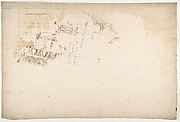 Unidentified, cornice, projection (recto) blank (verso)