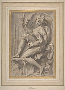 Seated Triton