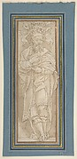 Caryatid, after Perino del Vaga drawing in Albertina