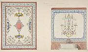 "Design for ceramic tile decoration of a bathroom in ""Pompeian"" manner (possibly for Hope's Deepdene?)"