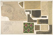 Fifteen Sketches for Ceiling and Cove Designs, Hôtel Rothschild, Vienna