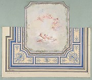 Design for Ceiling with Putti, Hôtel of Doctor Cranchi