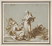 Scene with Four Figures of Monks Discoursing