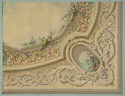Design for the decoration of a ceiling in the house of Baron Malet, Jouy-en-Josas (Seine et Gise)