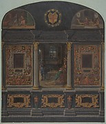 Design for painted wall decoration in the Chateau de Lude, Sarthe