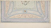 Ceiling design for a house on the rue Velezai