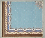 Design for the painted decoration of a ceiling