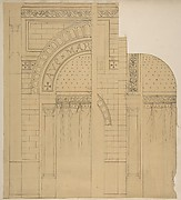 Elevation of a wall design, possibly for a chapel