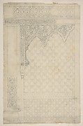Design for the decoration of a wall in Islamic motifs