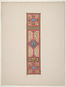 "Design for the painted decoration of a wall of ceiling panel monogrammed ""CA"""