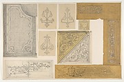 Ten designs for the painted decoration of an interior; one possibly for