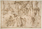 Studies for an Altarpiece with the Virgin Enthroned, Attended by Four Saints (recto); Various Figure Studies, Some Possibly for a Deposition of Christ (verso)